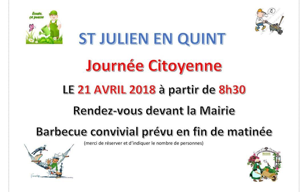 Journée citoyenne à St-Julien-en-Quint