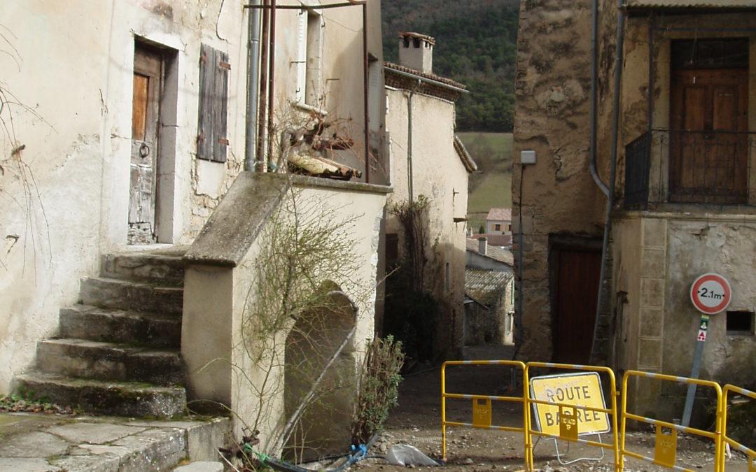 Sainte-Croix : l'assainissement, chantier colossal pour un petit village!…