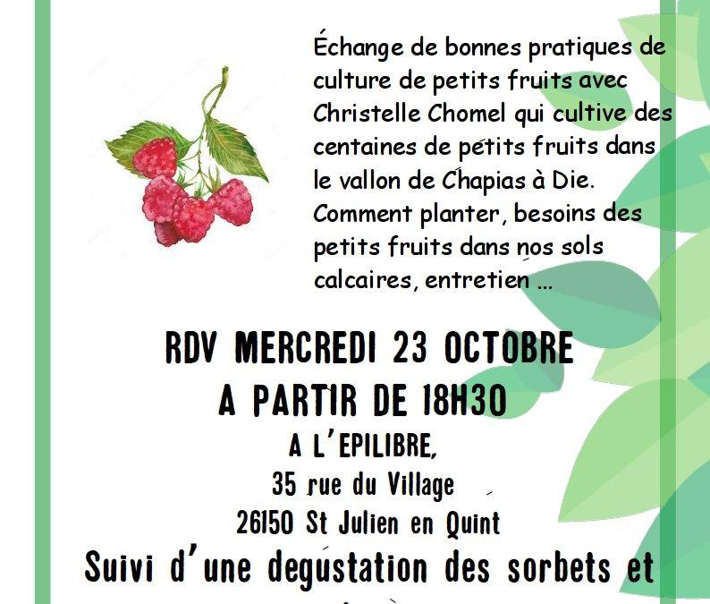 «Des fruitiers en vallée de Quint!» Achats groupés de compost et fruitiers, ateliers d'échanges et d'apprentissage…