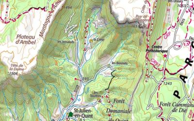 Commande groupée de cartes IGN spéciales vallée de Quint !